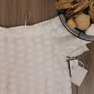 NWT 1 State off the shoulder white top sz M